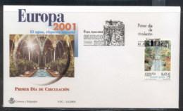 Spain 2001 Europa Water FDC - FDC
