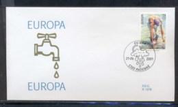 Belgium 2001 Europa Water FDC - 1991-00