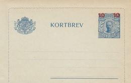 SWEDEN 1922  Kortbrev23  New - Interi Postali