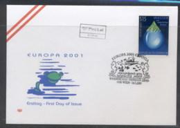 Austria 2001 Europa Water FDC - FDC