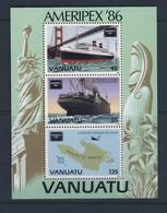VANUATU 1986 AMERIPEX-BATEAUX-CARTE  YVERT N°B9  NEUF MNH** - Bateaux