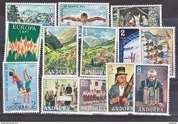 Andorre Espagnol 1972 Année Complète 64A à 76    Neuf ** MNH Sin Charmela Cote 150 - Neufs