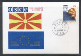 Macedonia 1995 Council Of Europe FDC - Macedonia