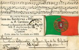 Casa Das Bandeiras E Alfavataria Lisboa Colored Used To Louis Espinoza Coiffeur Dijon A Portugueza Alfredo Keil - Non Classés