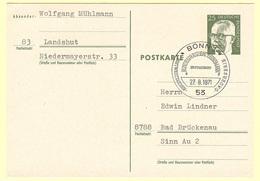 Postkarte P101 Mit Ersttagssonderstempel Bonn 27.8.1971 - BRD