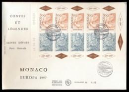 Monaco 1997 Europa Myths & Legends MS XLFDC - FDC