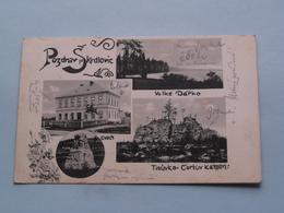 POZDRAV SKRDLOVIC Skola / Velké Darko / Tisuvka ( Edit.: Solhanka ) 1924 ( See Photo For Detail ) ! - Repubblica Ceca