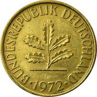 Monnaie, République Fédérale Allemande, 10 Pfennig, 1972, Munich, TTB+, Brass - 10 Pfennig