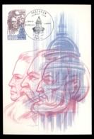 France 1981 V. Schoelcher, J. Jaures, J. Moulin, The Pantheon Maxicard - 1980-89