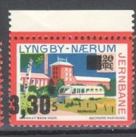 Denmark Local Railway Parcel Post, .Lyngby Naerum 3,30/1,25/120 Oere.MNH.Trains/Railways - Trains