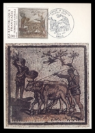 France 1981 Art, Men Leading Cattle, Mosaic Maxicard - 1980-89