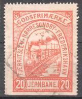 Denmark Railway Parcel Kolding Sydbaner 40 Oere Mint. Trains/Railways/EisenbahnmarkeFjerritslev-Norresyndby-Frederikshav - Trains