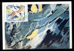 France 1981 Art, The Divers By Edouard Pignon Maxicard - Maximum Cards