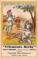 Historiettes De France - Vêtements Derby, Perpignan, Le Tailleur Des Elégants (Chevalier) (format Carte Postale) - Altri