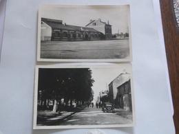 Carte Postale Ancienne De LANDRECIES Nord 59 LOT De 2 Noires Et Blanches Vers 1950 Dont La GARE AVEC ANIMATION - Landrecies