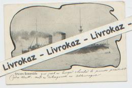 Carte Pércurseur, Croiseur Protégé Crucero Esmeralda Chile Chili, Izumi Japon, A Circulé Dans Une Enveloppe, Non Daté - Guerre