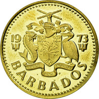 Monnaie, Barbados, 5 Cents, 1973, Franklin Mint, FDC, Laiton, KM:11 - Barbades