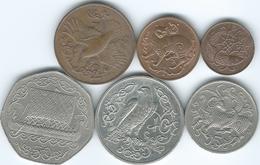 Isle Of Man - 3rd Decimal Issues - 2nd Portrait - ½ (1980) 1 (1980) 2 (1980) 5 ((1980) 10 (1982) & 50 Pence (1980) - Monnaies Régionales