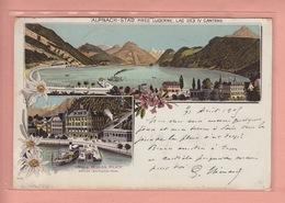 OUDE POSTKAART ZWITSERLAND - SCHWEIZ - SVIZZERA -   SUISSE -    LITHO - HOTEL - ALNACH-STADT  1905 - OW Obwald