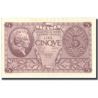 Billet, Italie, 5 Lire, 1944, 1944-11-23, KM:31b, SPL - [ 1] …-1946 : Regno