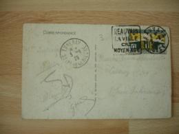 Daguin Beauvais La Ville Du Moyen Age Timbre 10 C  Exposition International - 1921-1960: Période Moderne