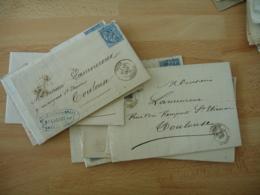 Lot De 9 Lodeve Cachet Type  17  Lettre Timbre Sage 15 - Marcophilie (Lettres)