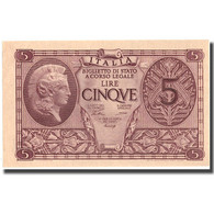 Billet, Italie, 5 Lire, 1944, 1944-11-23, KM:31a, SPL+ - [ 1] …-1946 : Regno