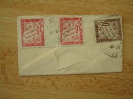 Lettre Taxee Paire Millesime Timbre Duval 30 C  Et 10 C Chiffre Taxe 10 C - Marcophilie (Lettres)