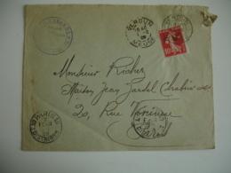 1909 Verdun Escadron Boudene Hussards Daguin Double Jumele Sur Lettre - Postmark Collection (Covers)