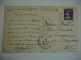 Croiseur Jeanne D Arc Poste Navale Obliteration Sur Lettre - Marcophilie (Lettres)