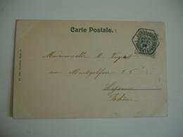 1905 Pontaillac  Recette Auxiliaire Obliteration Sur Lettre - Marcophilie (Lettres)
