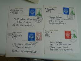 Lot De 4 Pret A Poster Vignette Erinnophilie Philexfrance - Postmark Collection (Covers)