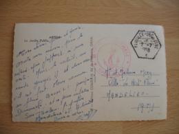 Flotille Duquesne Recette Auxiliaire Sur Lettre - Marcophilie (Lettres)