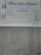ZA192.20  Hungary  Austria  Rechung Faktura Invoice Munk Gábor - Manner Wien - Lántz -Temesszépfalu 1913 - Invoices & Commercial Documents