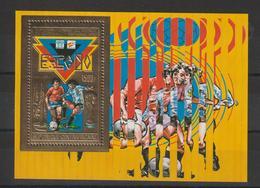 Centrafrique Bloc Doré 1981 Non Répertorié Yvert Coupe Du Monde Football ** MNH - Centrafricaine (République)
