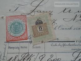 ZA192.22 Hungary   Rechung Faktura Invoice  MUNK MÓR  Budapest  - Lántz -Temesszépfalu  Temes 1912 - Rechnungen