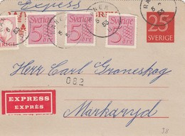 SWEDEN 1953  Kortbrev38  Ranner Express - Interi Postali