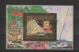 Centrafrique Bloc Doré 1982 Non Répertorié Yvert E Tabarly Neuf ** MNH - Centrafricaine (République)