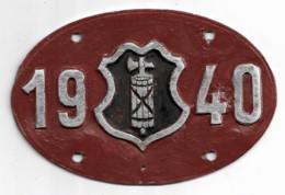 Velonummer St. Gallen SG 40 - Number Plates