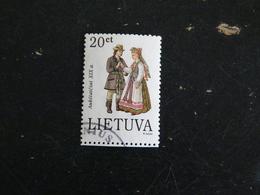 LITUANIE LIETUVA YT 506 OBLITERE - COSTUME TRADITIONNEL - Lituanie