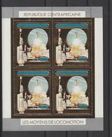 Centrafrique 1982 PA 260 Espace Navette Colombia En Feuillet De 4 Neuf ** MNH - Centrafricaine (République)