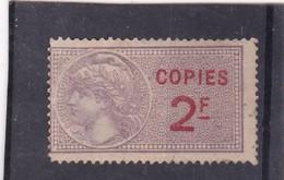 T.F. De Copies N°23 - Fiscaux