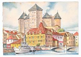 CPSM 10.5 X 15 Barre Dayez ANNECY Le Château Des Ducs De Nemours (XVI° Siècle Illustrateur Barday - Barday