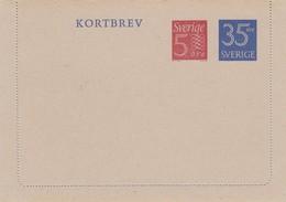 SWEDEN 1964  Kortbrev43 New - Interi Postali