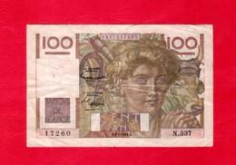 BILLET De 100  F . JEUNES PAYSANS - 1953 - 1871-1952 Anciens Francs Circulés Au XXème