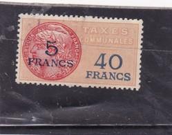 T.F. Taxes Communales N°11 - Fiscaux