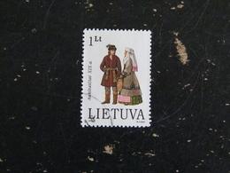 LITUANIE LIETUVA YT 508 OBLITERE - COSTUME TRADITIONNEL - Lituanie