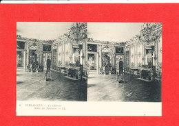78 VERSAILLES Chateau Cpa Stéréoscopique Salon Des Pendules 4    LL - Versailles (Château)