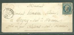 N° 10  Seul Sur Lettre  Orleans  PC 2340 Pour La Marne - Marcophilie (Lettres)