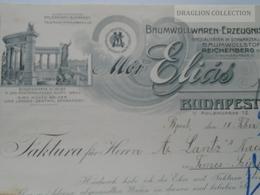 ZA192.23 Hungary   Rechung Faktura Invoice  ELIAS MÓR Budapest  - Lántz -Temesszépfalu  Temes 1913 - Invoices & Commercial Documents